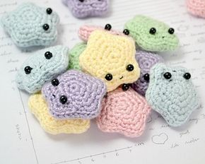 Cute Crochet Star Amigurumi Pattern. There goes my free time. *^* too cute