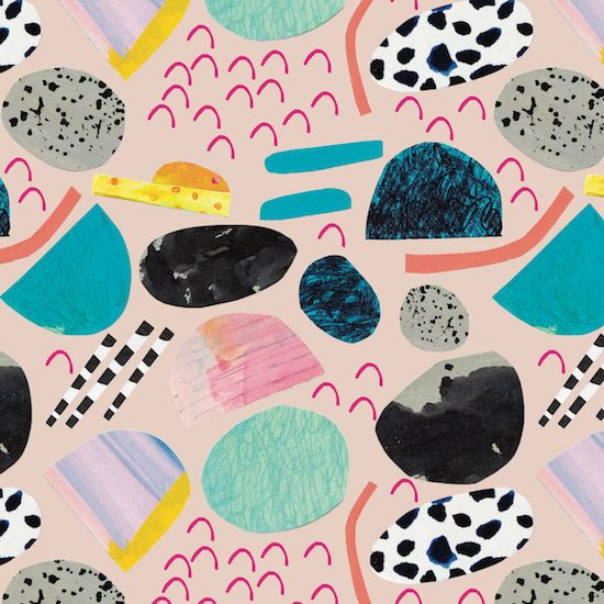 Ashley Peifer   Collage Peach   Make it in Design Scholarship in association with Print & Pattern   2016 Scholarship   Top 50 shortlist   http://makeitindesign.com/design-school/scholarship/