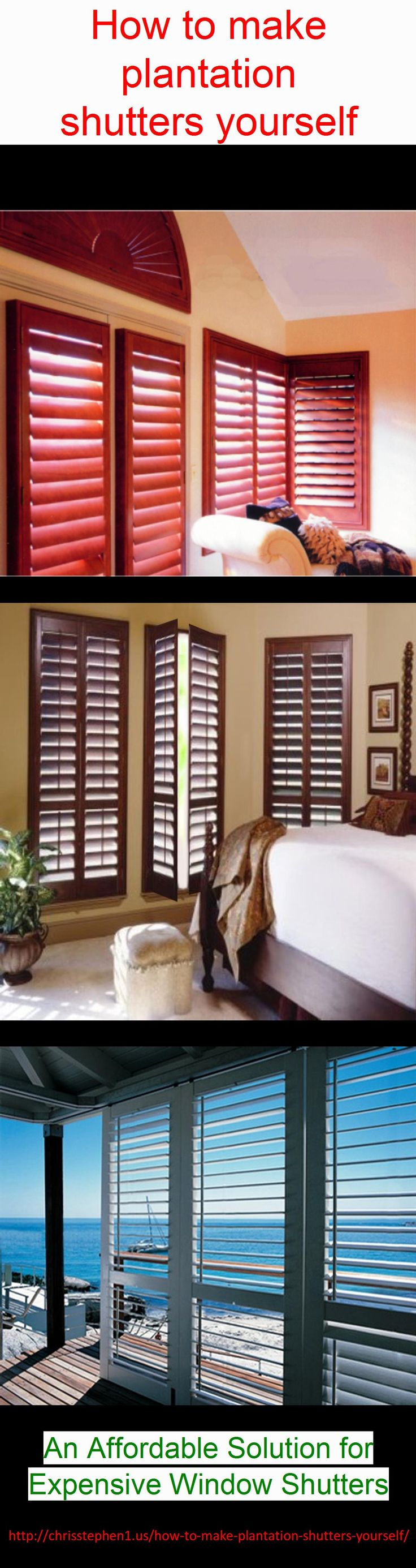 Building plantation shutters yourself woodworking for Plantation shutter plans