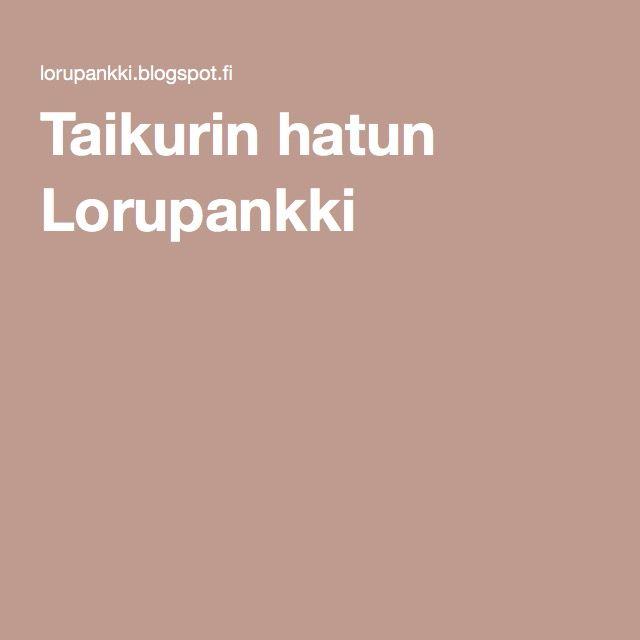 1)Taikurin hatun Lorupankki 2)Marjaloruja http://www.arctic-flavours.fi/binary/file/-/id/108/fid/3205/