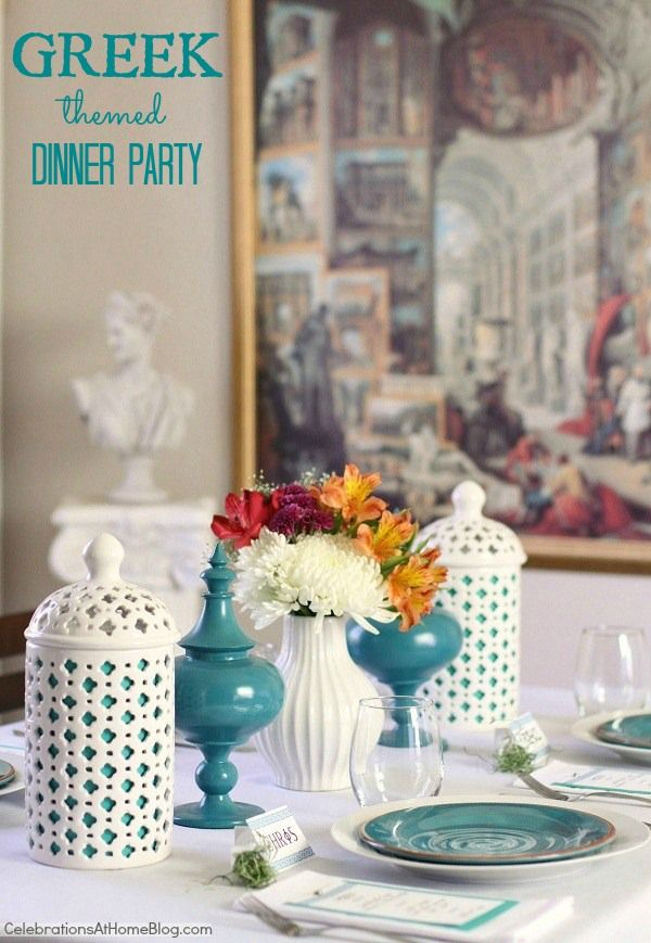 Greek themed dinner party & recipes