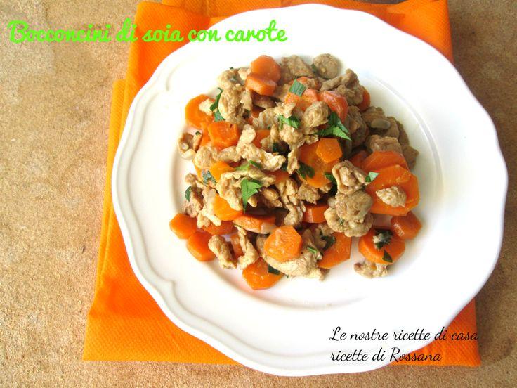 Bocconcini di soia con carote, ricetta #light e #vegan