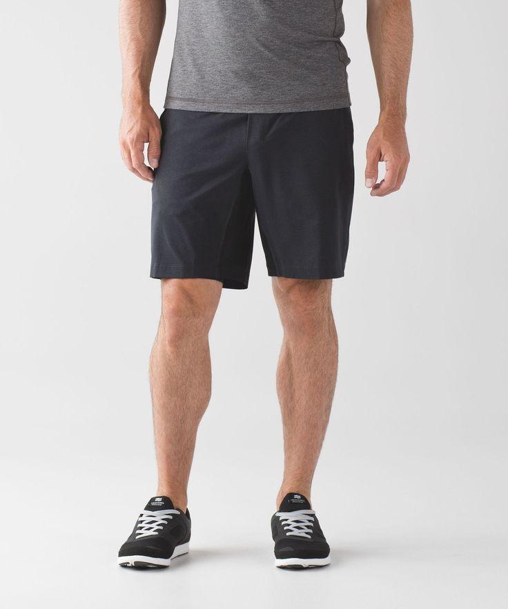 """Men's Workout Shorts - (Black, Size M) - T.H.E. Short 9"""" *Luxtreme Lin"""