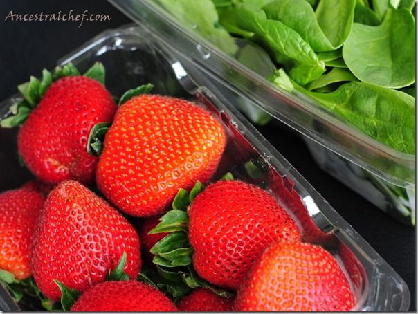 Strawberry Spinach Salad With Strawberry Dressing - Ancestral Chef