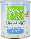 Nature's One Baby's Only Organic Whey Protein Dairy Toddler Formula