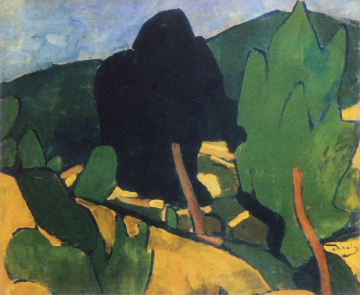 Derain André, view of Cassis, 1907, 54 x 64 cm, Modern Art Museum, troyes, France