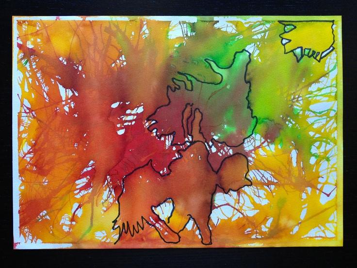 Sjov aktivitet - Find motivet i Ecoline farverne