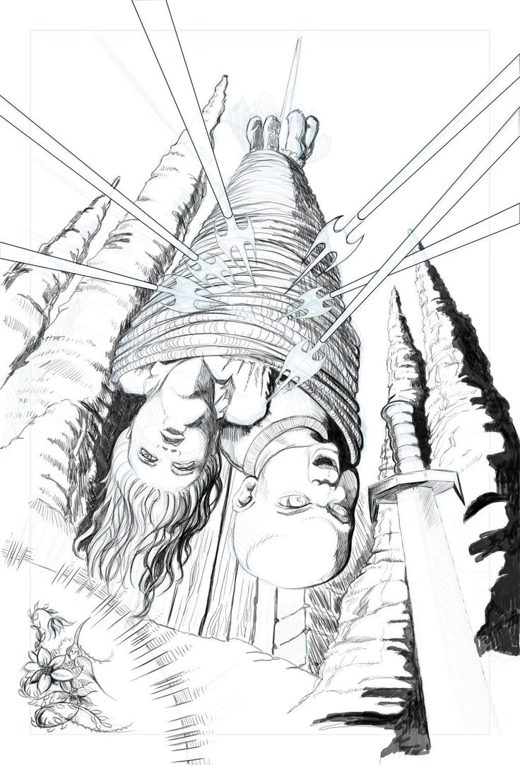 """Pencils for new cover for """"The Omega Children - the Vahn and the Bold Extraction."""" by @MarcelNorkia"""