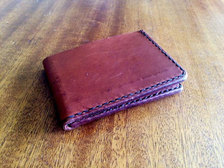 A Slim Design Kangaroo Leather Wallet by RoseLeatherCrafting