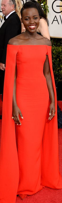 Lupita Nyong'o in Ralph Lauren | Golden Globes This lady, I can't is everything I want to look like!