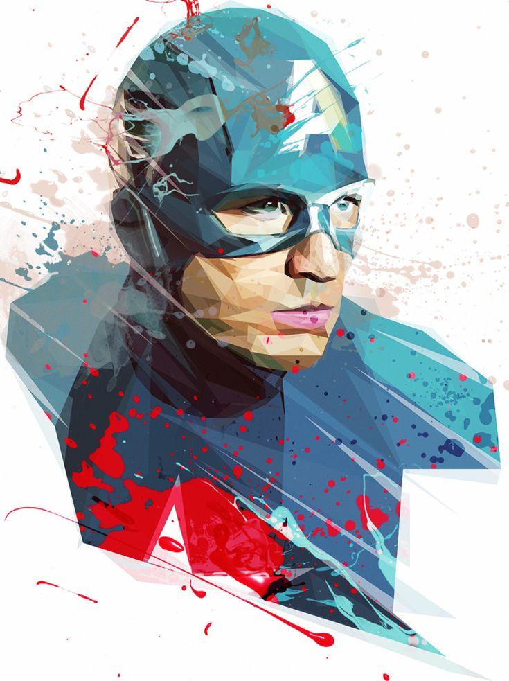 Captain America, Arte de Roxy Color