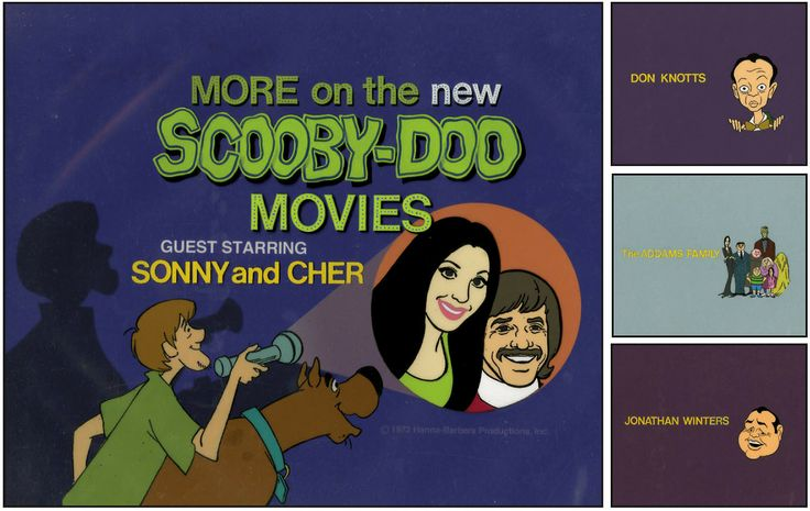 A series of illustrated title cards for The New Scooby-Doo ...