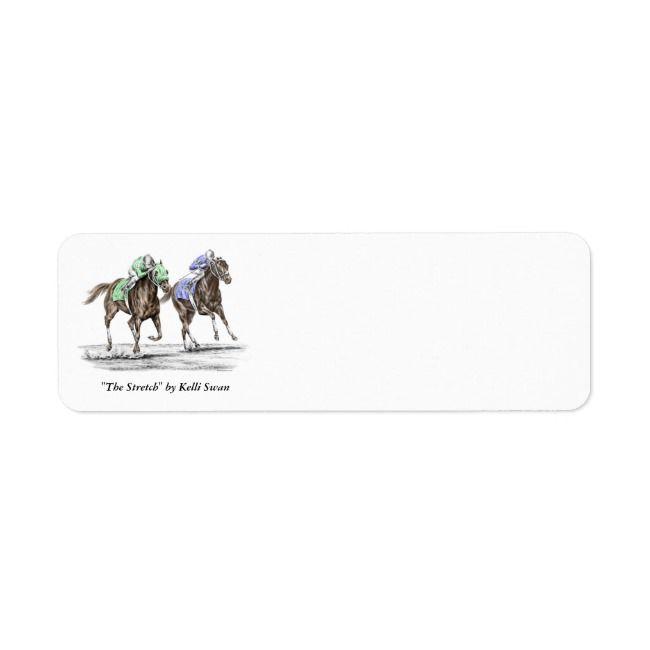 Thoroughbred Horses Racing Label Zazzle Com Thoroughbred Horse Thoroughbred Horse Racing Horse Racing