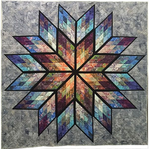 Hoffman Fabrics Bali Batik Judy Niemeyer Grey Star Quilt Kit Prismatic Star…