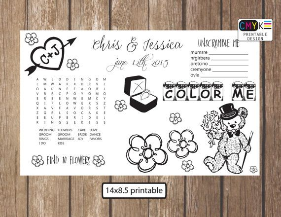 wedding activity for kids kids placemat kids coloring page
