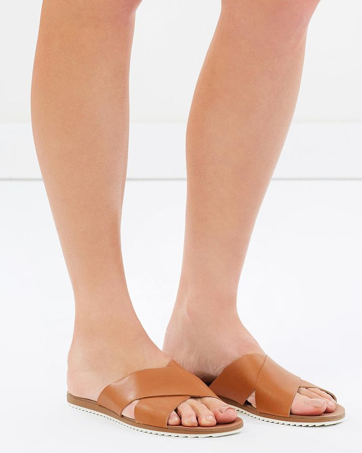 Calista Leather Slides