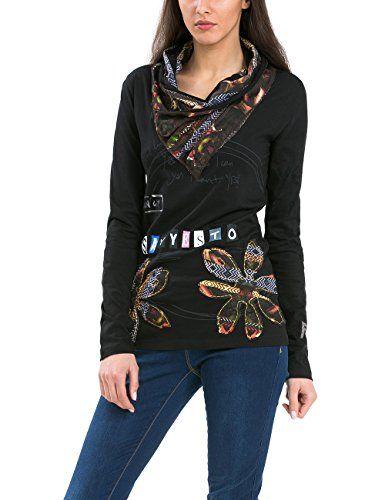 Desigual Clara - T-shirt - Imprimé - Manches longues - Femme