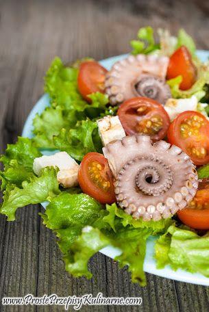 Sałatka z ośmiornicą marynowaną. Przepis: http://www.prosteprzepisykulinarne.com/2013/11/salatka-z-marynowana-osmiornica.html
