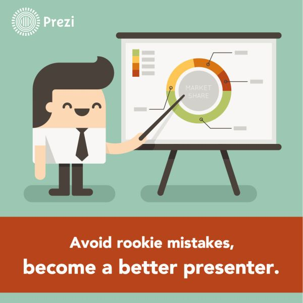 10 Most Common Rookie Mistakes in Public Speaking — Prezi Blog http://blog.prezi.com/latest/2014/2/7/10-most-common-rookie-mistakes-in-public-speaking.html