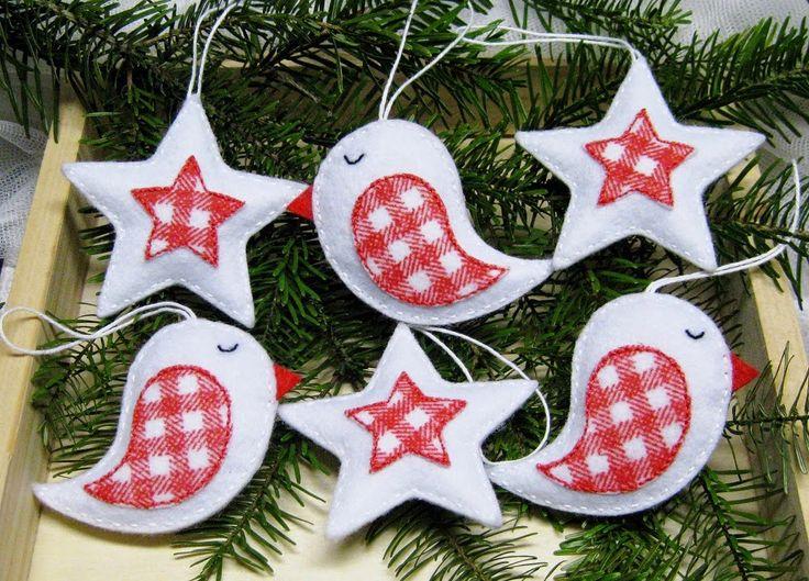 Filcowe ozdoby - Felt Christmas decorations