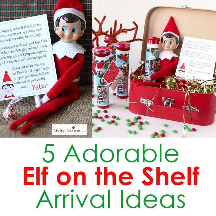 Creative arrival ideas for your Elf on the Shelf! Unique printables and cute ideas direct from the North Pole to wow your kids.