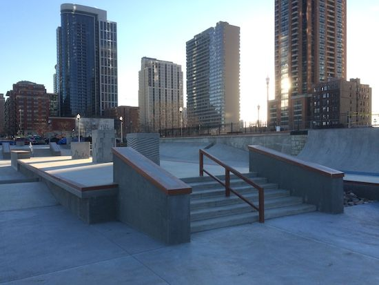 urban skate parks with buildings behind - Google Search