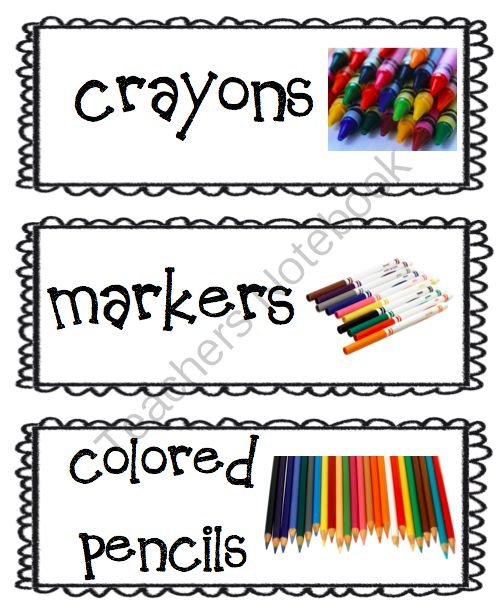 FREE Visual Supply Tags from Miss B's Special Education Classroom on TeachersNotebook.com (3 pages)  - Visual Supply Tags for your Classroom Supplies