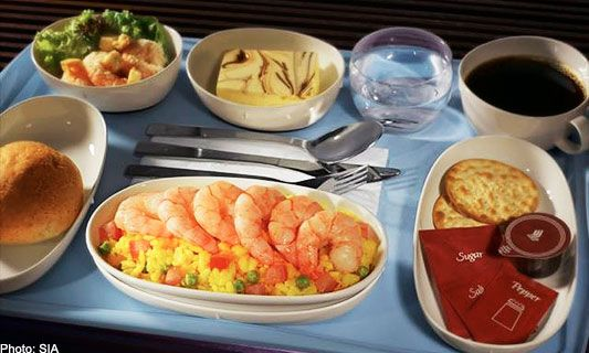 Singapore Airlines In-Flight Food Catered By KL Airport Services Sdn Bhd In-Flight Catering Services