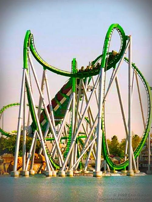 Incredible Hulk Roller-coaster in Universal's Islands of Adventure, Orlando