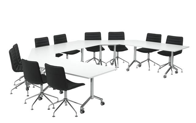 VELOCITY FLIP-TOP TABLES with WHITE FRAMES | Equip Office Furniture