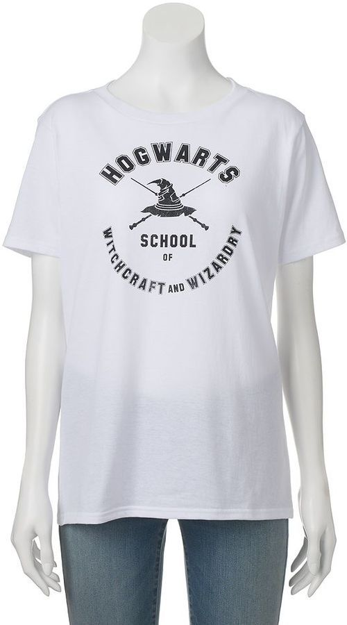 Juniors' Harry Potter Hogwarts School of Witchcraft and Wizardry Crewneck Graphic Tee