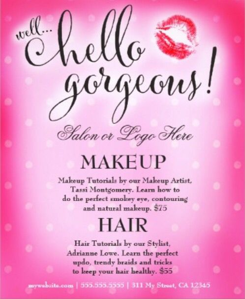 1000+ images about Makeup Party- Flyer Design on Pinterest ...
