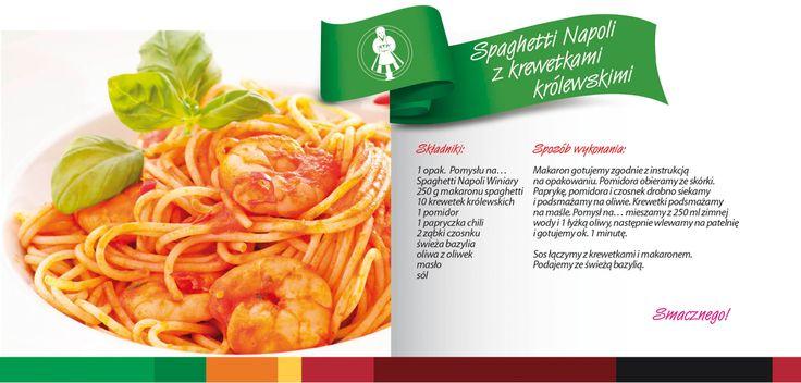Spaghetti z krewetkami królewskimi