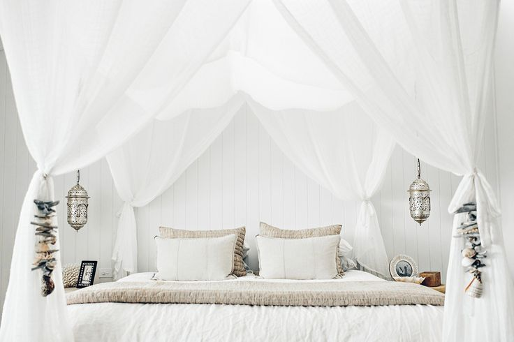White canopy bedroom at the Grove Byron Bay | Spell Blog