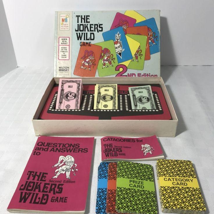 The Joker's Wild 2nd Edition Game COMPLETE Milton Bradley 1974 #MiltonBradley