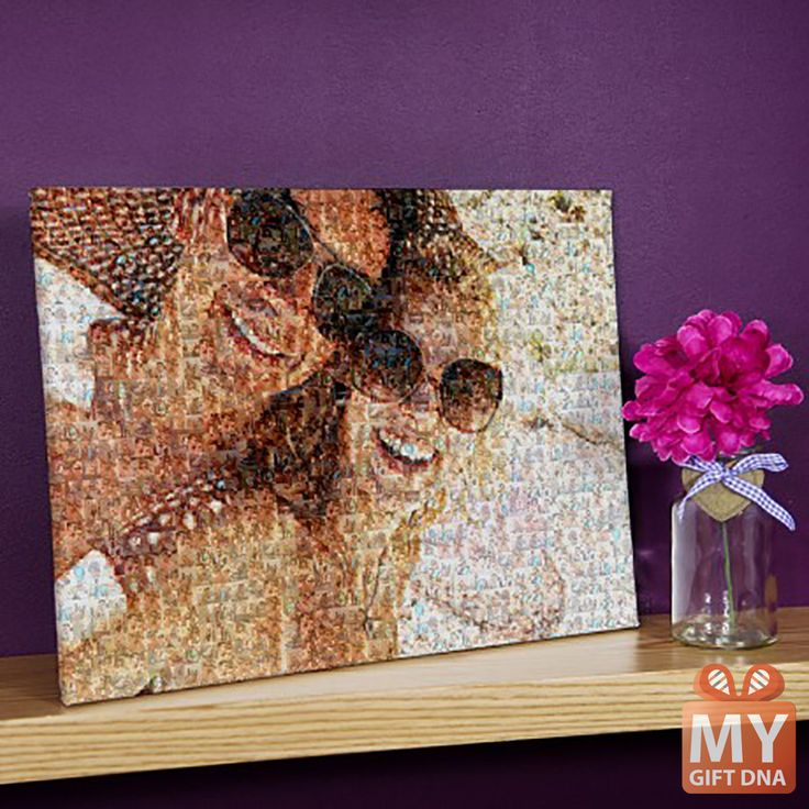 Photo mosaic form your photos! #mygiftdna #personalised #gift #canvas