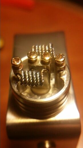 Kanthal Build (all ribbon wire, no round). Dual coil, 6 ...