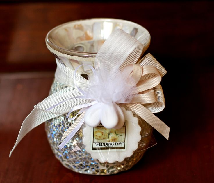 Bomboniera Bruciatore Tart Gold & Pearl e Wedding Day... una scelta perfetta #Yankeecandle #weddingday #bomboniere