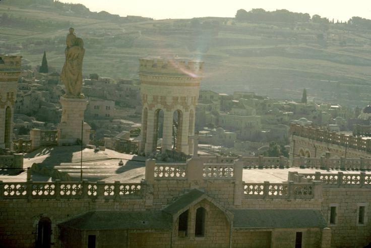 View over Notre Dame de France, Jerusalem, July 1950
