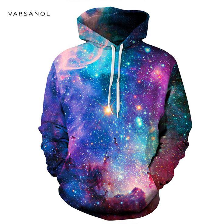 Varsanol Galaxy 3D Men/Women Hoodies With Cap //Price: $37.85 & FREE Shipping //     #yellowmonkeyclothing