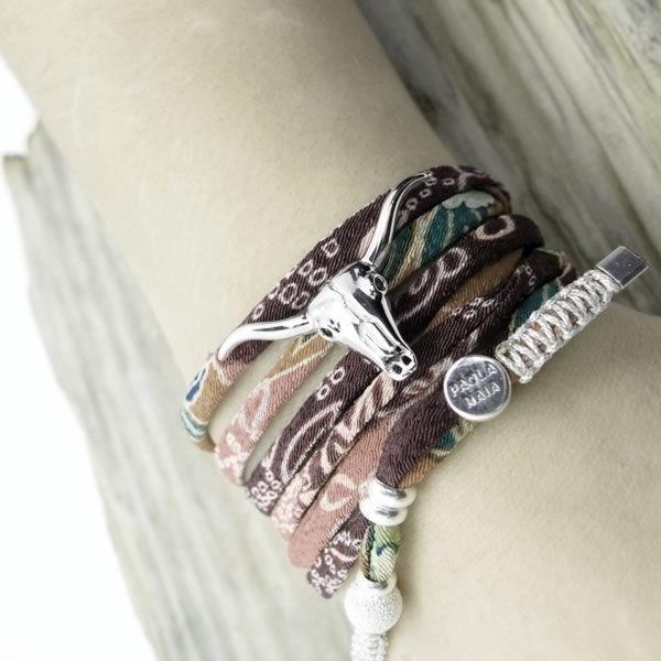 Collier bracelet Tête de buffle