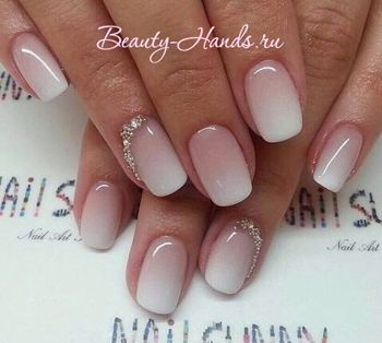 french ombre oval nails - Google Search