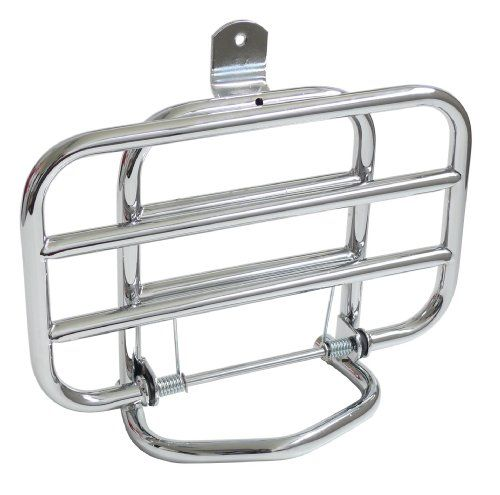 Logoscooter Folding Baggage Rack for Vespa LX Front - http://www.biketrade.co.uk/?product=logoscooter-folding-luggage-rack-for-vespa-lx-front