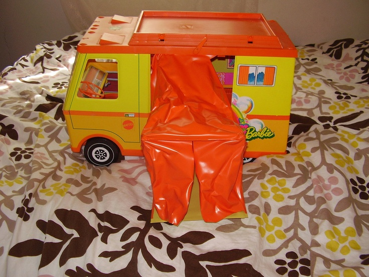 I still have mine too. Used to drive my puppy around in it so the tent is long gone!  barbie camper 1970s--still have it