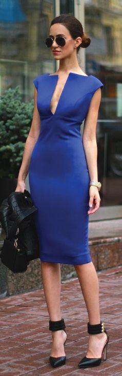 Cobalt Blue Chic - Dress.