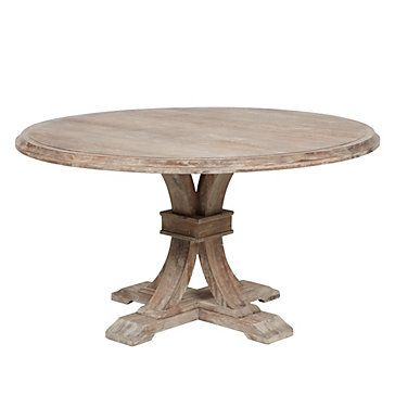 Z Gallerie Inspired Round Farmhouse Table (Knock Off Decor)