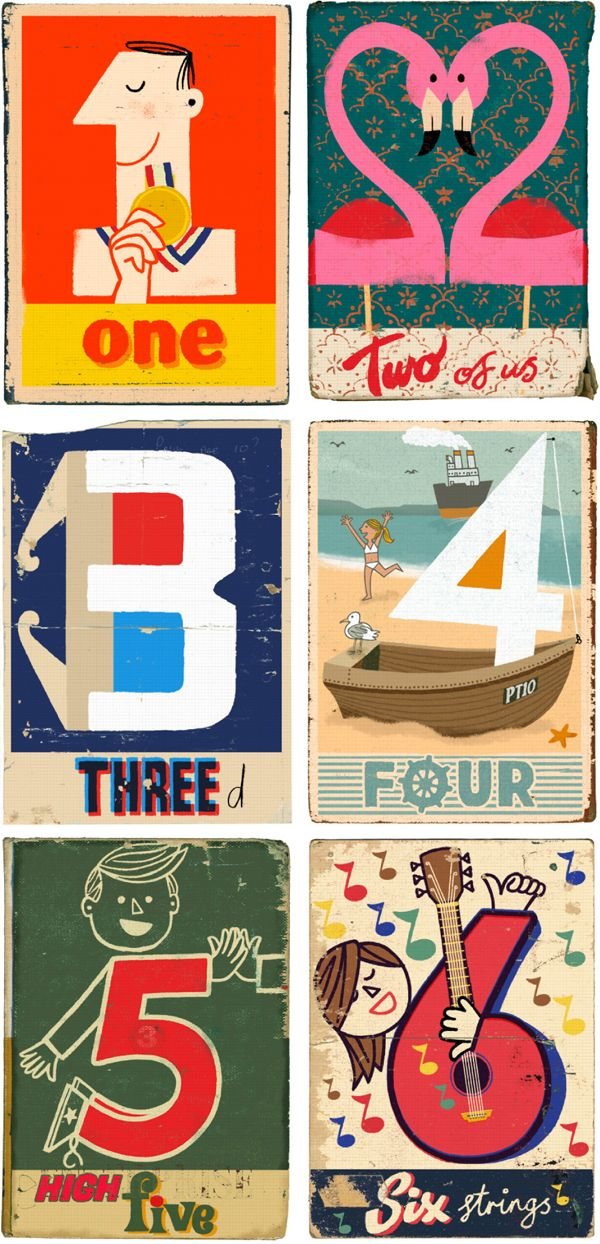Paul Thurlby's 1 to 10 number series.