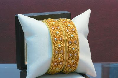 Indian Jewellery and Clothing: Latest antique gold bangle models..