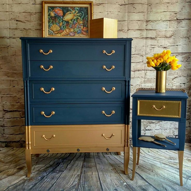 Dixie Belle Paint Bunker Hill & Gold Metallic paint by Dixie Belle.... by Mary GraceHynes