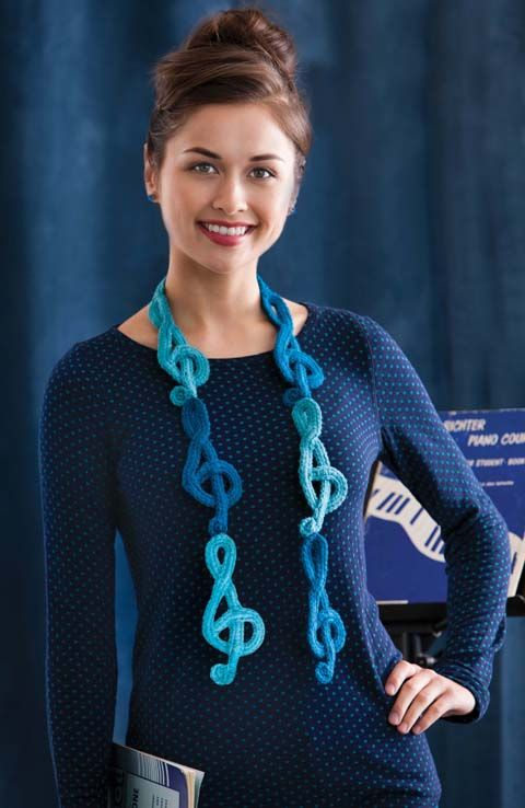 Blue Note Scarf | crochet today.... Cool for a music teacher